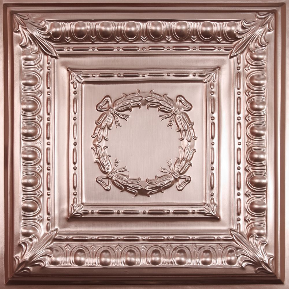 Ceilume Empire Faux Copper Ceiling Tile 2 Feet X 2 Feet