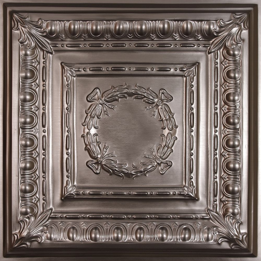 faux tin ceiling tiles ceilume empire faux tin ceiling tile 2 x 2 lay 29223