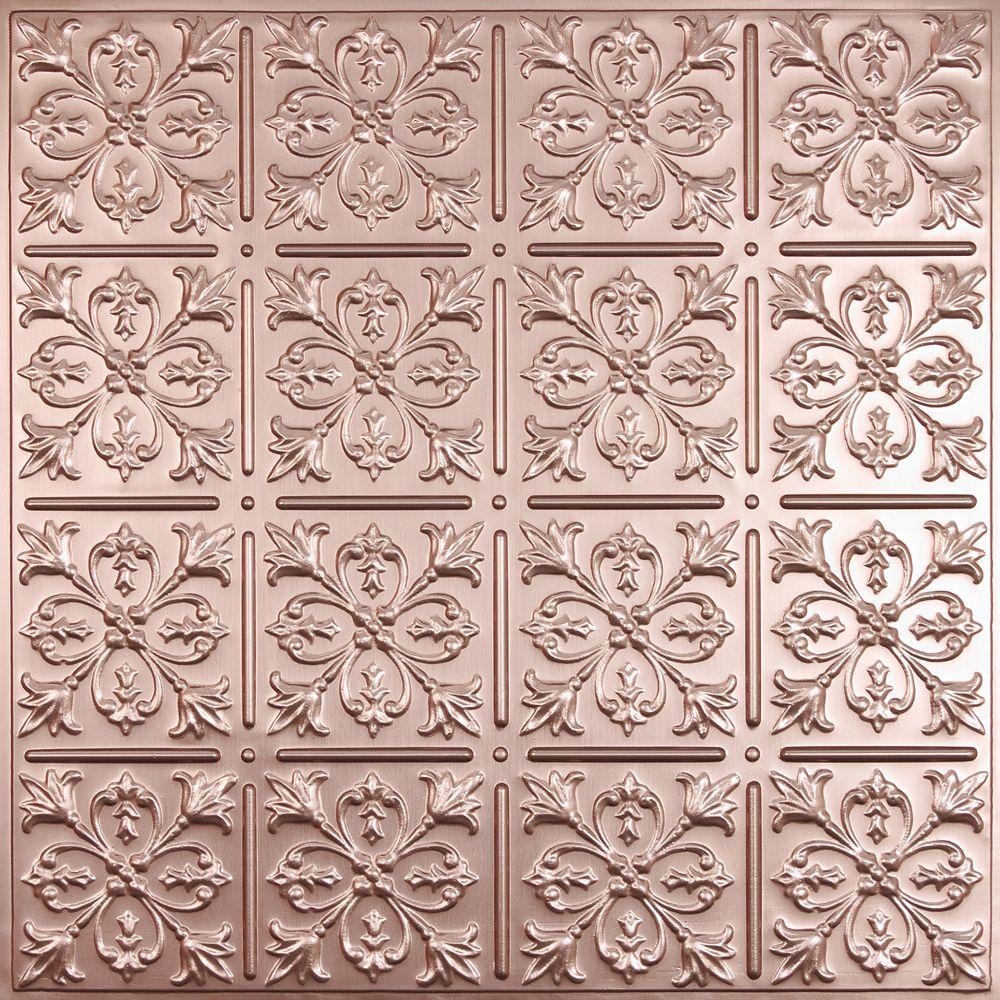 Cute 12X12 Ceiling Tile Tiny 16 By 16 Ceramic Tile Flat 18 Inch Ceramic Tile 2 X 2 Ceiling Tile Young 2X2 Drop Ceiling Tiles Pink2X4 Tile Backsplash Ceilume Fleur De Lis Faux Copper Ceiling Tile, 2 Feet X 2 Feet Lay ..