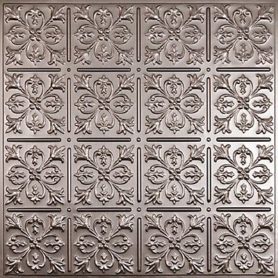 Fleur De Lis Faux Tin Ceiling Tile 2 Feet X Lay In Or Glue Up