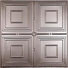 Jackson Faux Tin Ceiling Tile, 2 Feet x 2 Feet Lay-in or Glue up
