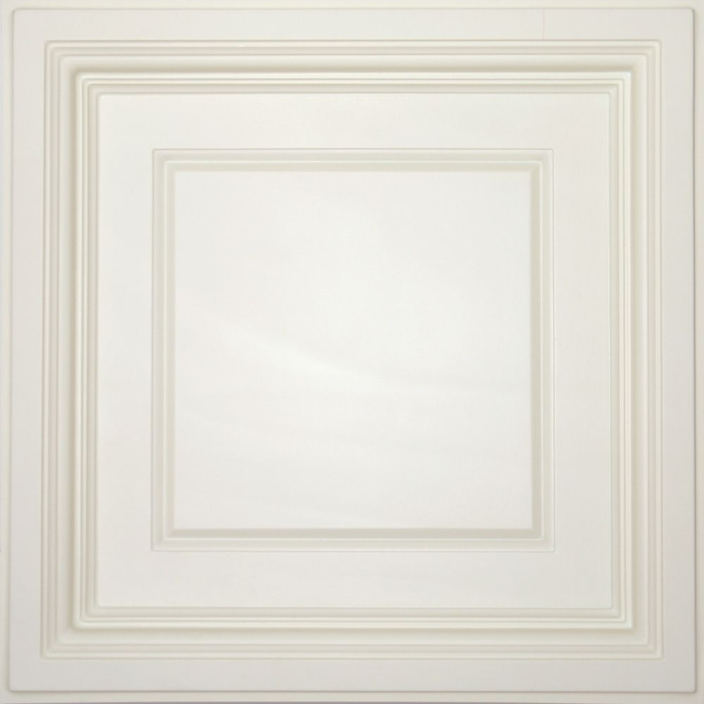 Madison Sand Coffered Ceiling Tile, 2 Feet x 2 Feet Lay-in only
