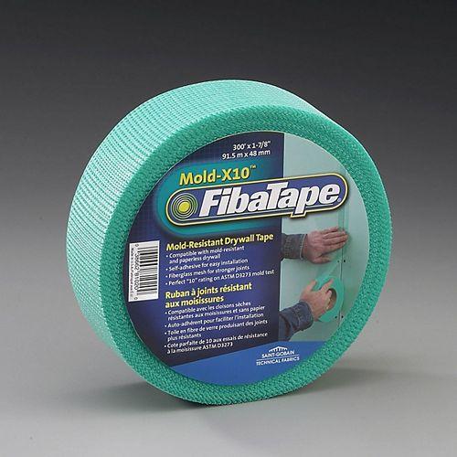 FibaTape Ruban à joints résistant à la moisissure Mold-X10