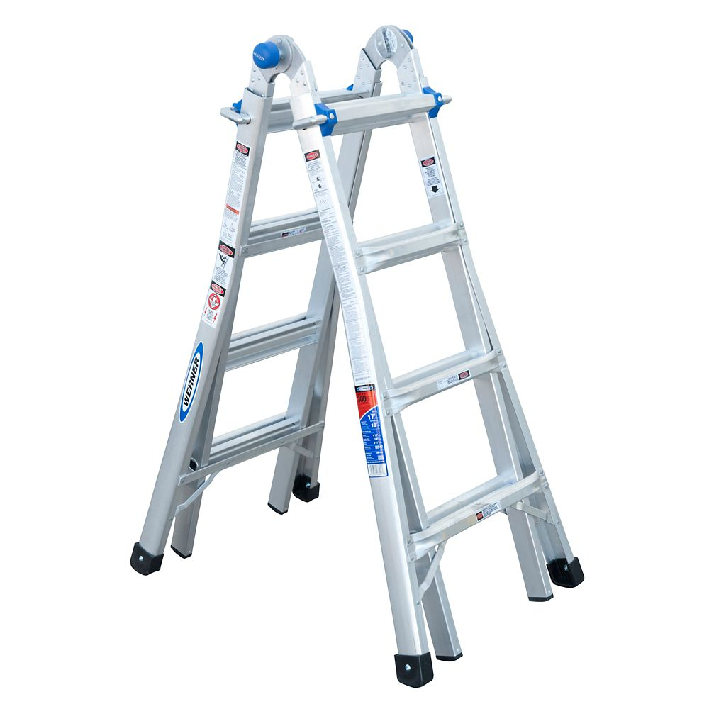 Lower Level Multi Purpose: Werner Aluminum Telescoping Multi-Purpose Ladder Grade 1A