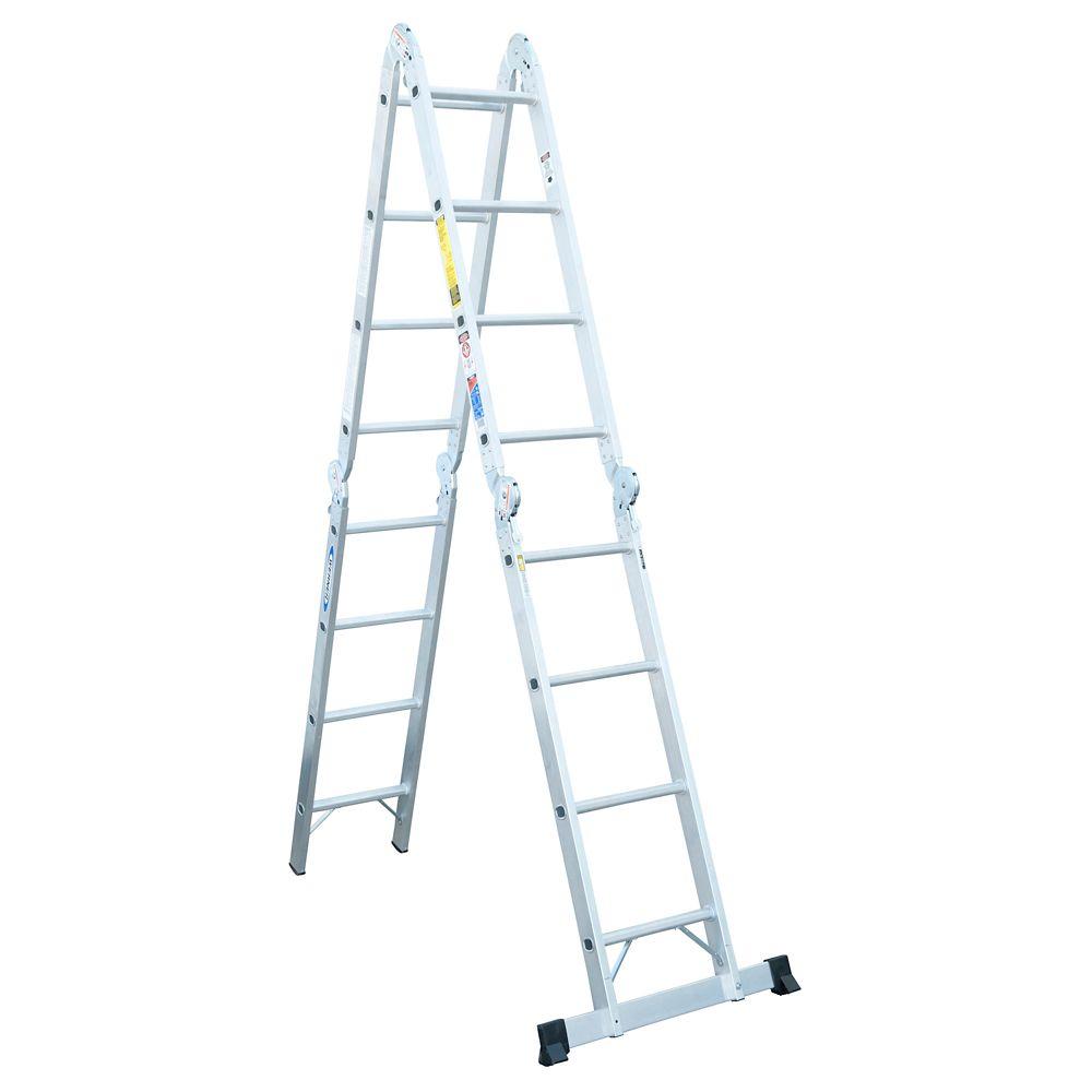 Aluminum Articulating Multi Ladder Grade 1A (300# Load Capacity) - 16 Feet