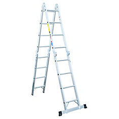 Aluminum Articulating Multi Ladder Grade 1A (300 lb. Load Capacity) - 16 Feet