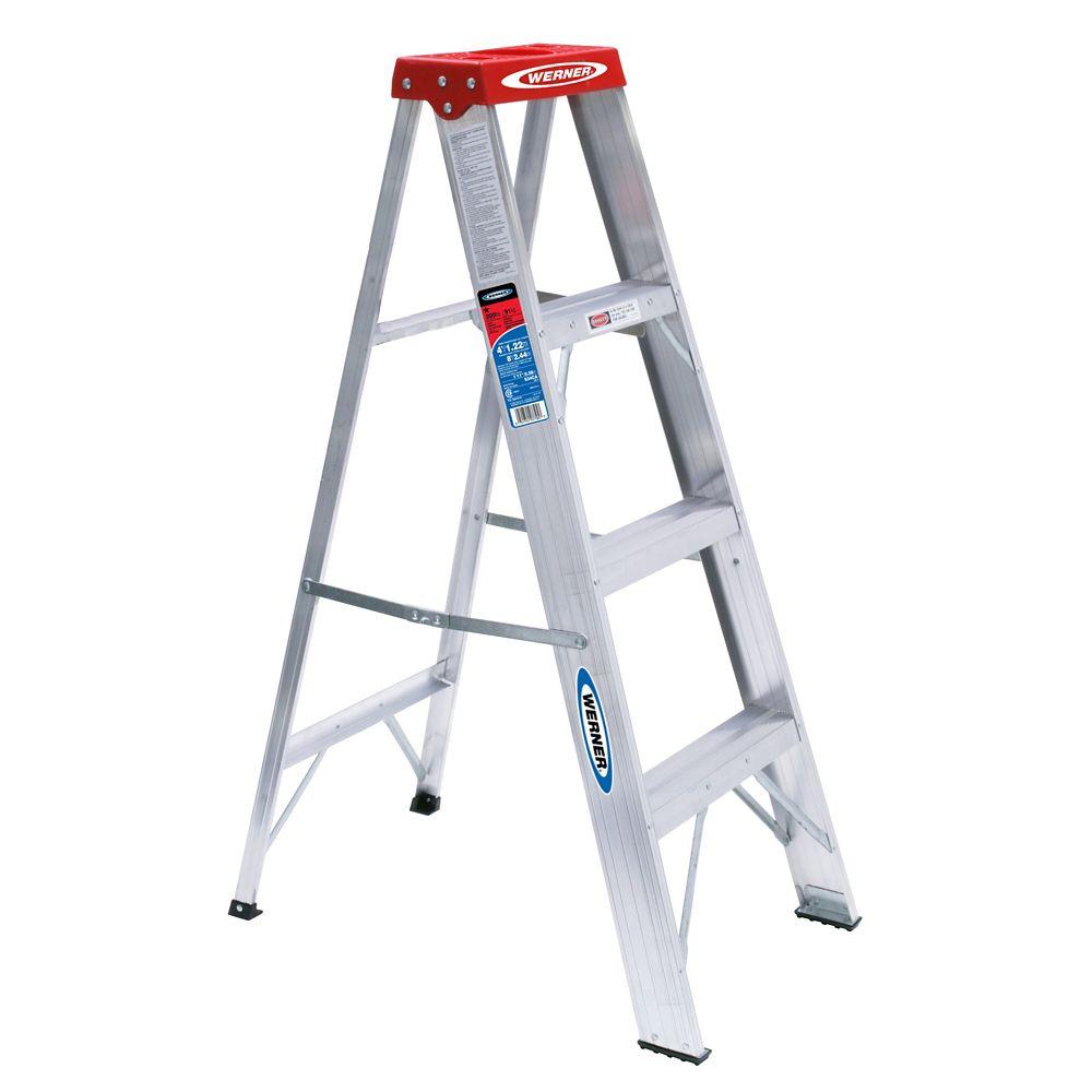 Aluminum Stepladder Grade 3 (200# Load Capacity) - 4 Feet