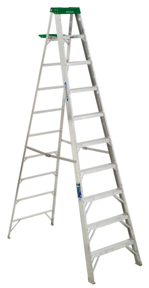 Aluminum Stepladder Grade 2 (225# Load Capacity) - 10 Feet