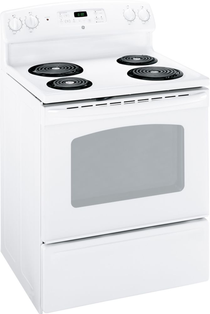 5.0 cu. ft. Electric Standard Clean Range in White