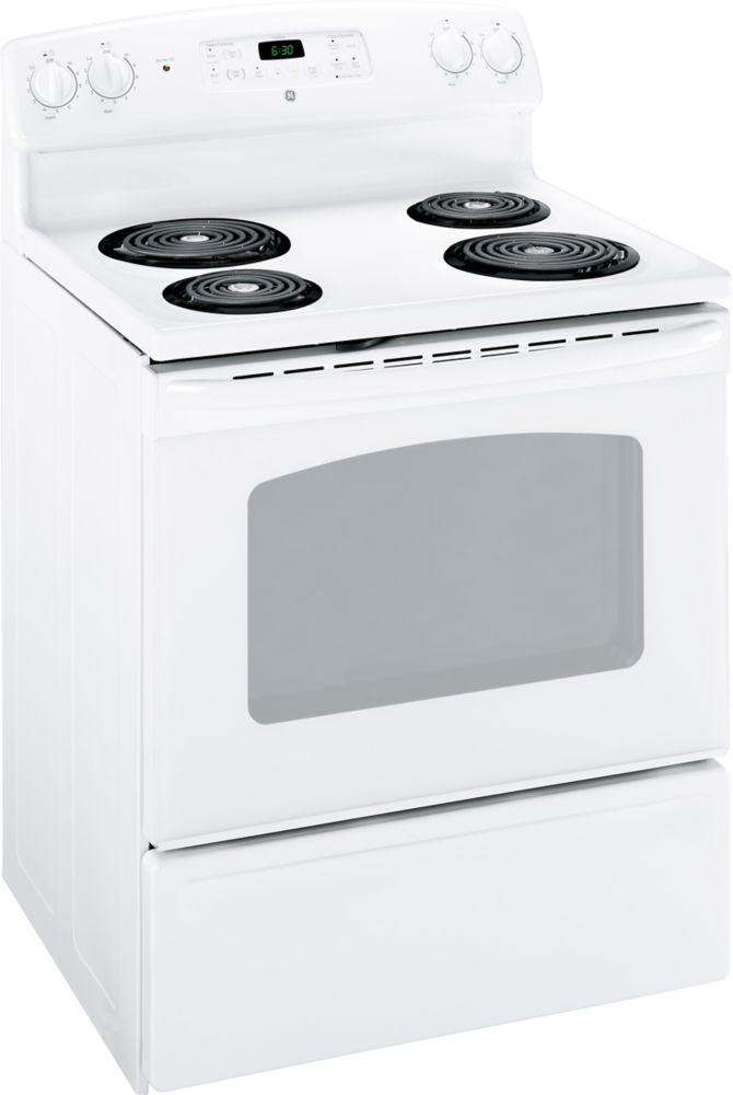 GE Cuisinière électrique à nettoyage standard de 30 po - JCBS280DTWW
