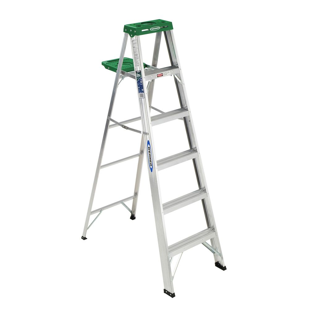 Aluminum Stepladder Grade 2 (225# Load Capacity) - 6 Feet
