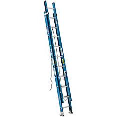 Fiberglass Extension Ladder Grade 1 (250# Load Capacity) - 20 Feet