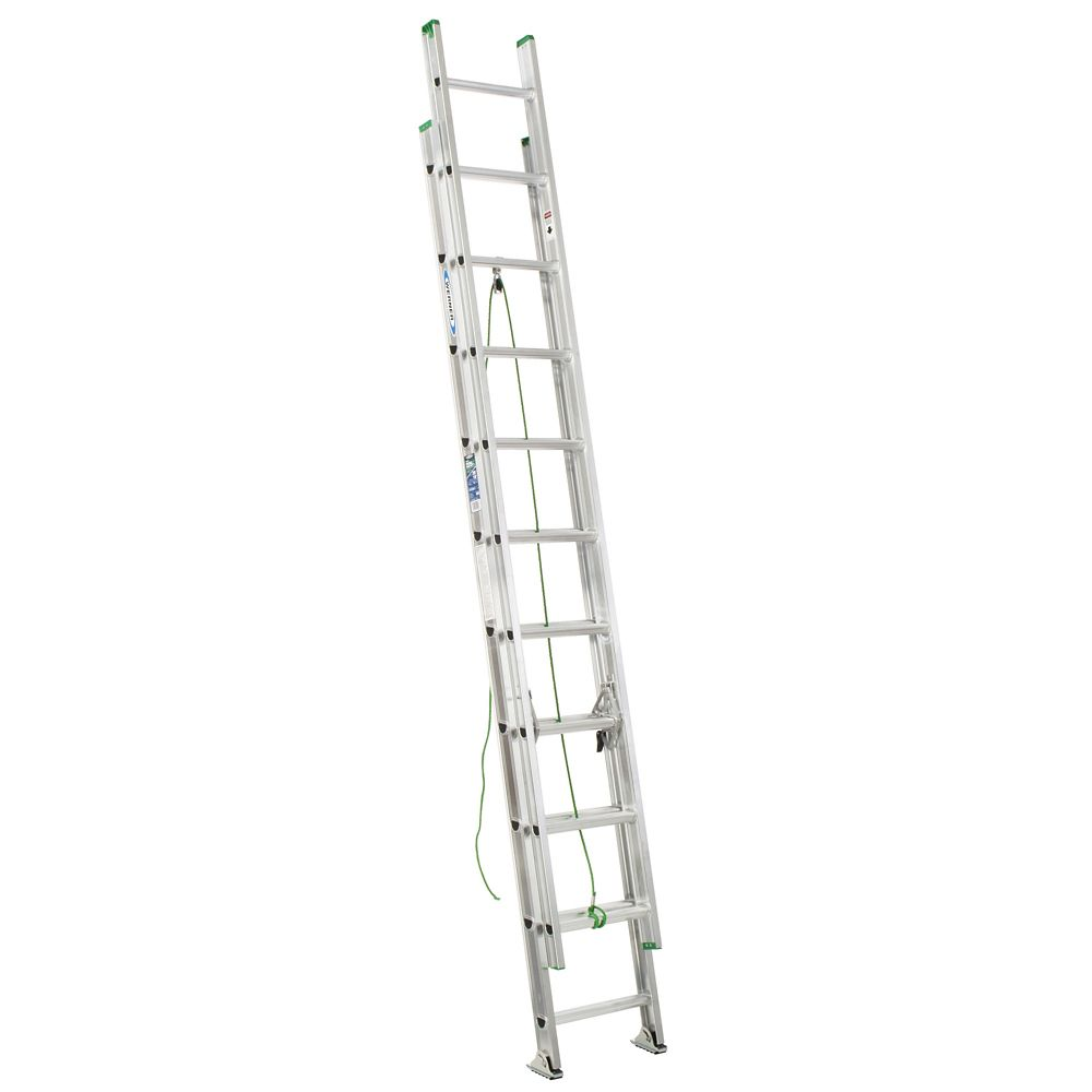 werner aluminum extension ladder grade 2  225  load capacity