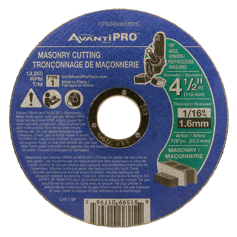 Masonry Cut Off Disc CPD045063101C Canada Discount