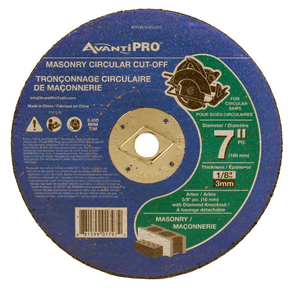 Masonry Cut Off Disc CPD070125L01C Canada Discount