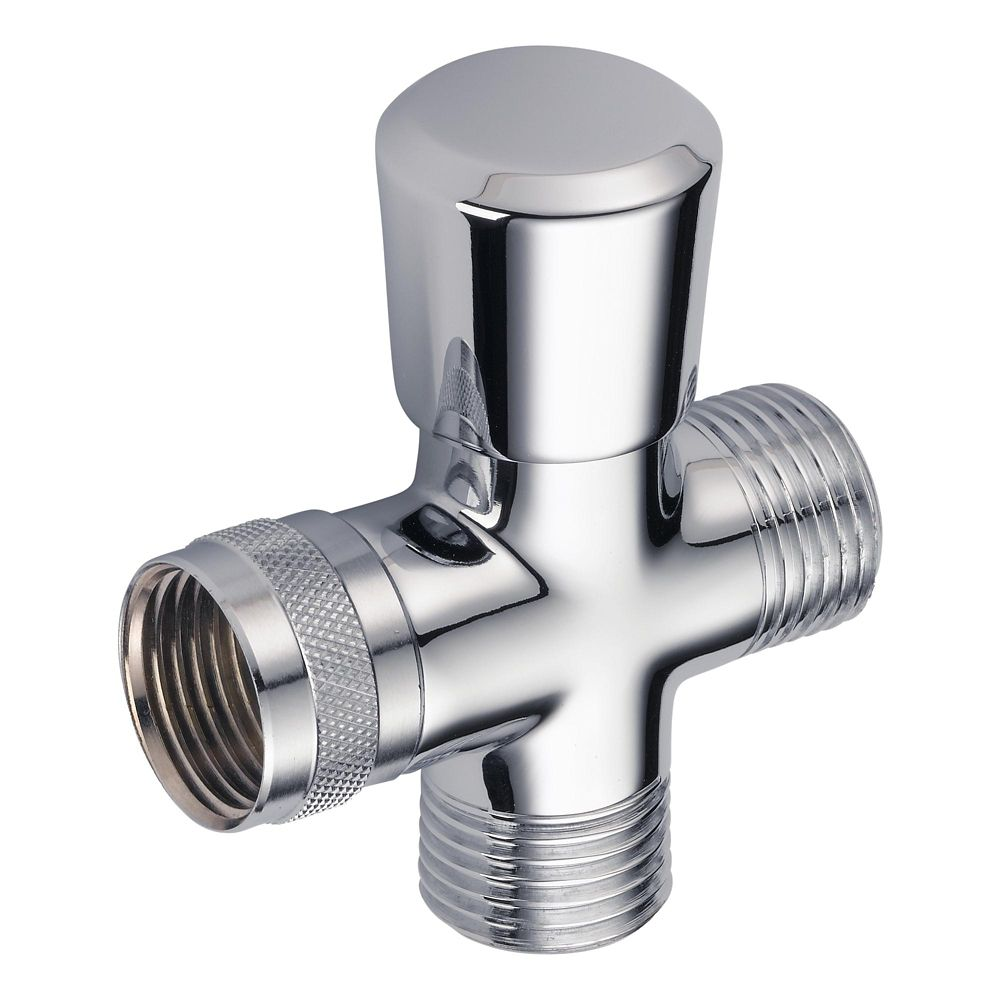 Traditional Hand-Shower Shower Arm Diverter in Chrome