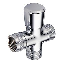 Delta Inverseur de bras de douche à main traditionnelle en chrome.