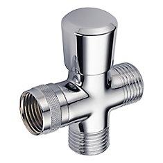 Traditional Hand-Shower Shower Arm Diverter in Chrome