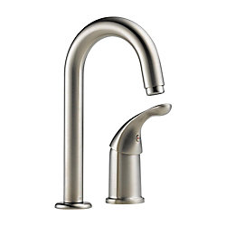 Waterfall Single Handle Bar/Prep Faucet in Stainless
