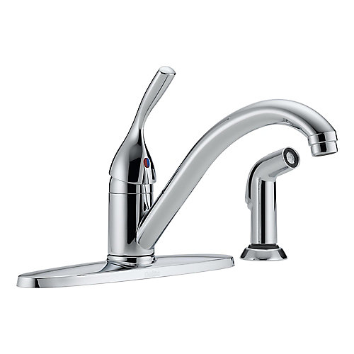 Classic Collection Single-Handle Side Sprayer Kitchen Faucet in Polished Chrome