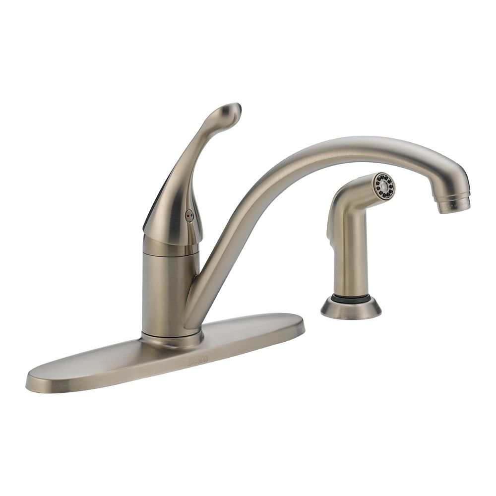 Collins Water Efficient Single Handle Side Sprayer Kitchen Faucet in Stainless