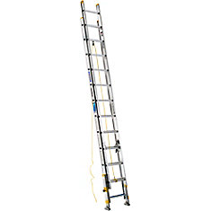 Aluminum Extension Ladder with Equalizer Grade 1 (250 lb. Load Capacity) - 24 Feet