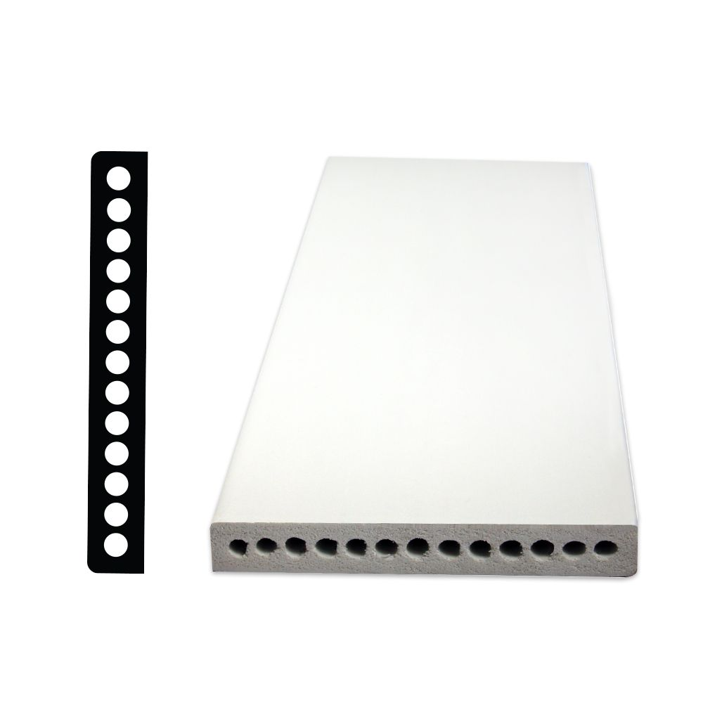 PVC Base 1/2 Inches x 3-1/2 Inches x 96 Inches