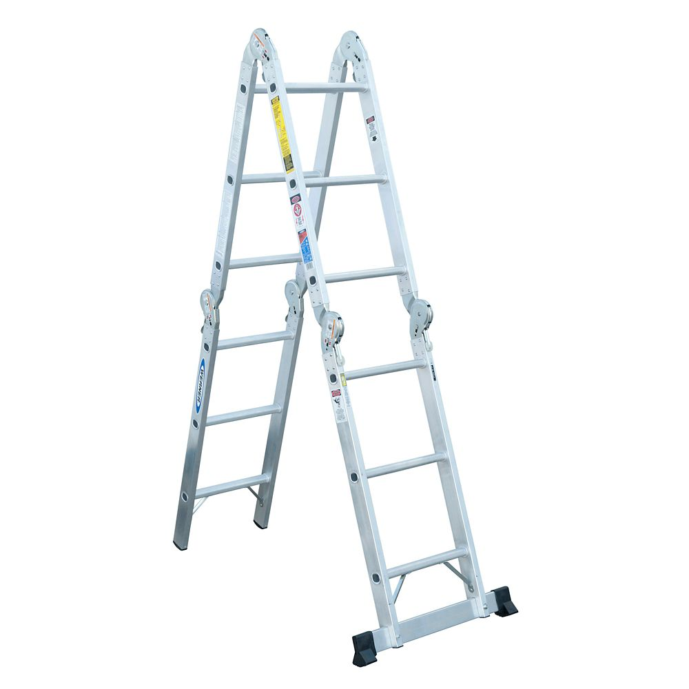 Aluminum Articulating Multi Ladder Grade 1A (300# Load Capacity) - 12 Feet