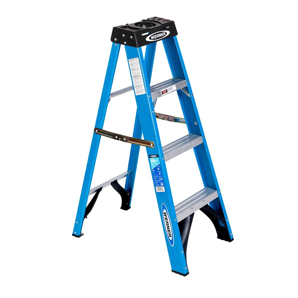 Fiberglass Stepladder Grade 1 (250# Load Capacity) - 4 Feet