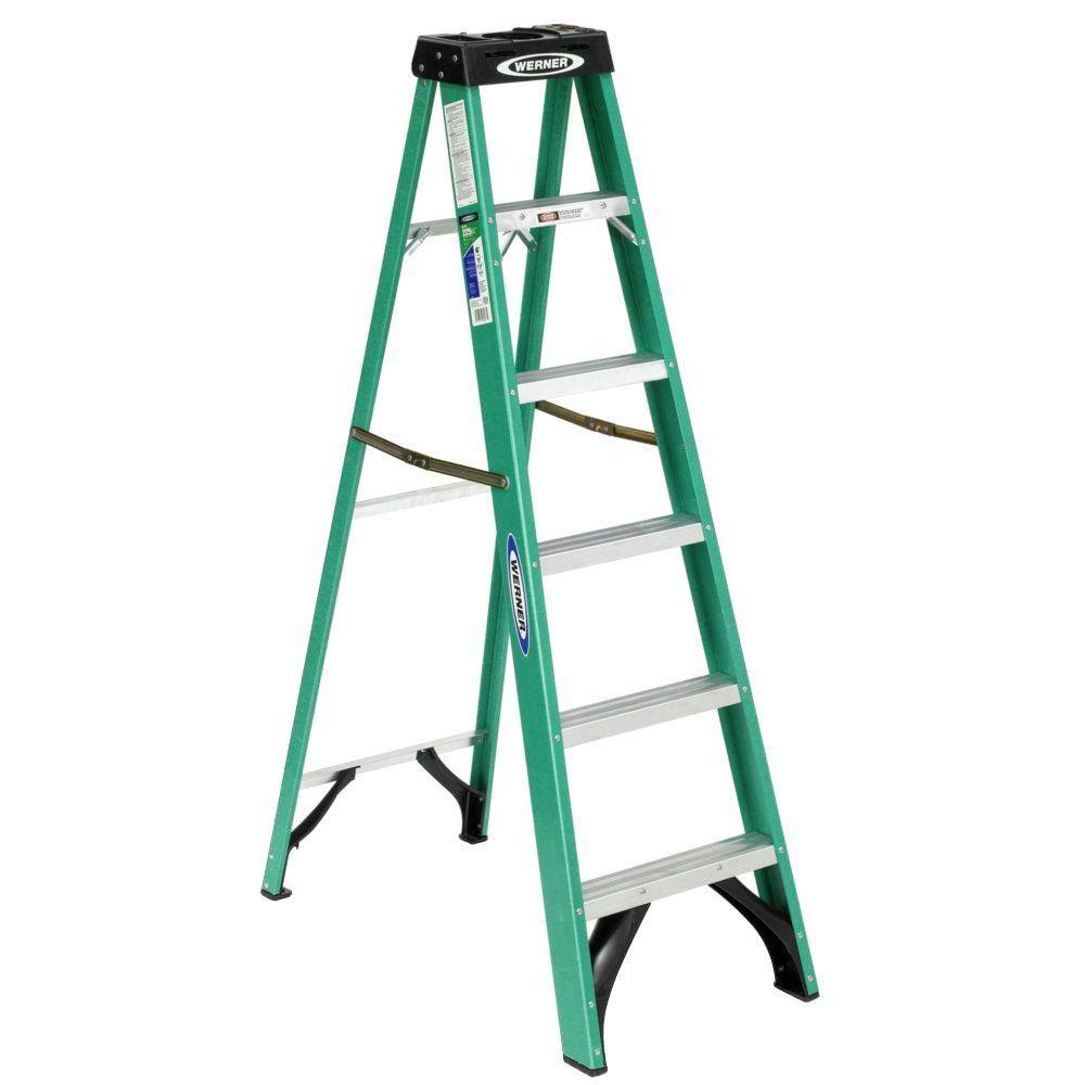 Fiberglass Stepladder Grade 2 (225# Load Capacity) - 6 Feet