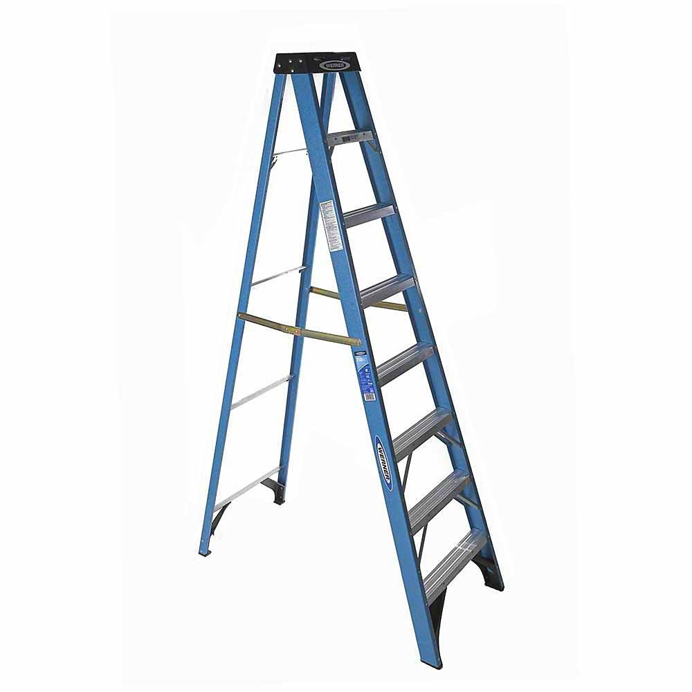 Fiberglass Stepladder Grade 1 (250# Load Capacity) - 8 Feet