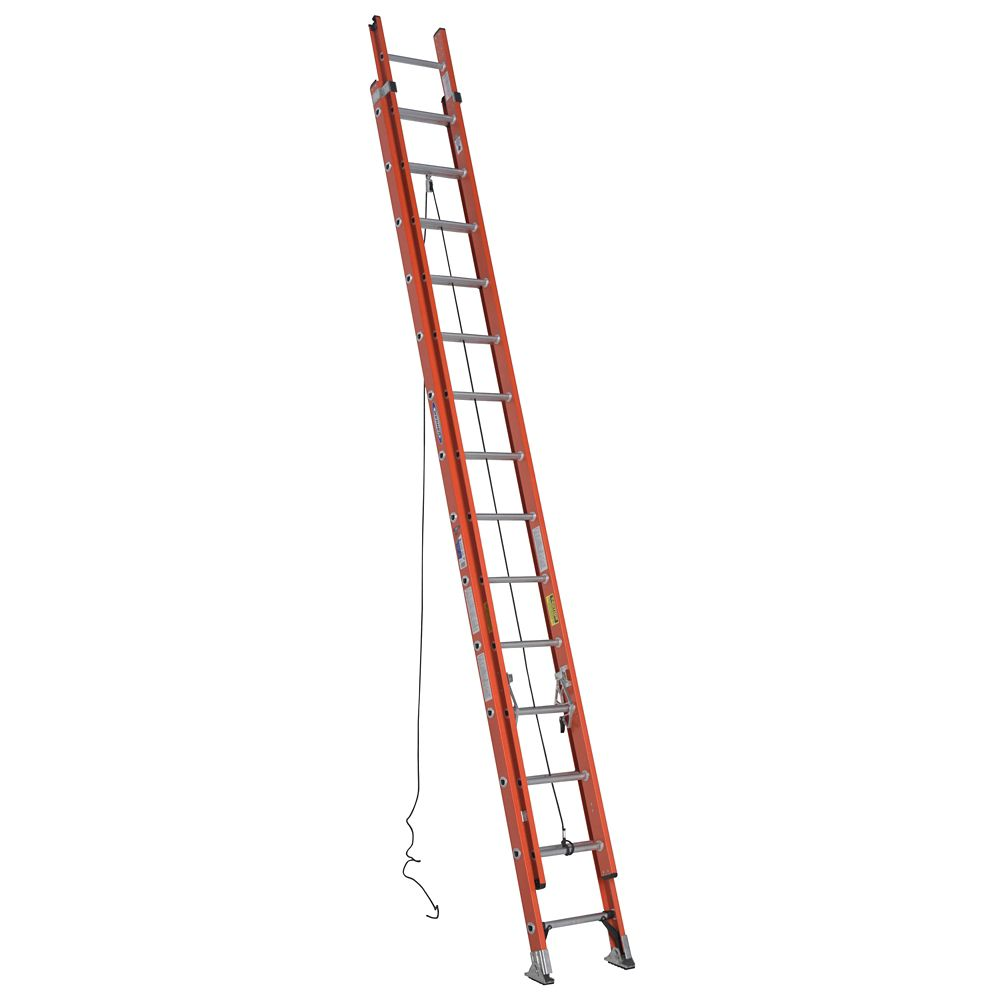 Fiberglass Extension Ladder Grade 1A (300# Load Capacity) - 28 Feet
