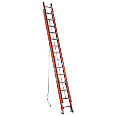 Fiberglass Extension Ladder Grade 1A (300 lb. Load Capacity) - 28 Feet