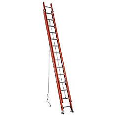 Fiberglass Extension Ladder Grade 1A (300# Load Capacity) - 28 Feet