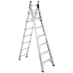 Aluminum Combo Ladder Grade 2 (225 lb. Load Capacity) - 8 Feet Step/13 Feet Extension
