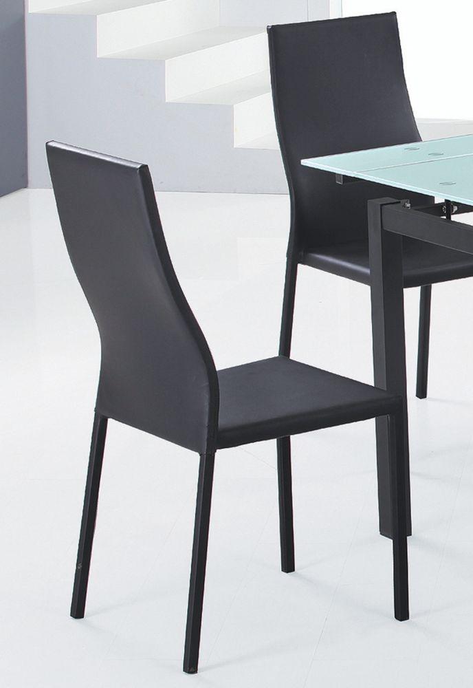 Versa-Set Of 4 - Side Chair-Black