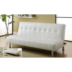 Worldwide Homefurnishings Inc. Divan-lit Loft Klik Klak convertible  - Blanc