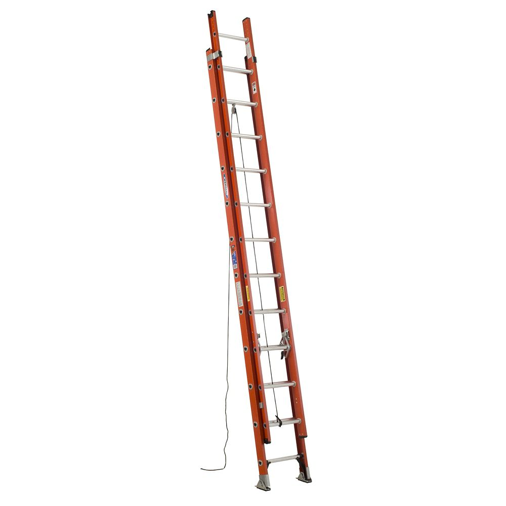 Fiberglass Extension Ladder Grade 1A (300# Load Capacity) - 24 Feet