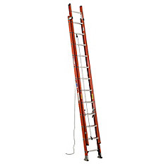 Fiberglass Extension Ladder Grade 1A (300# Load Capacity) - 24 Feet