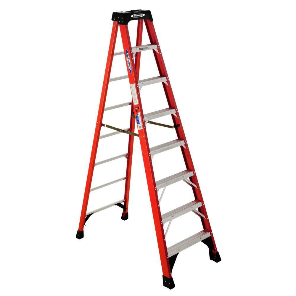 Fiberglass Stepladder Grade 1A (300# Load Capacity) - 8 Feet