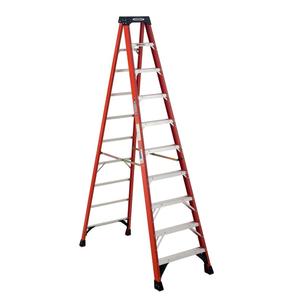Fiberglass Stepladder Grade 1A (300# Load Capacity) - 10 Feet