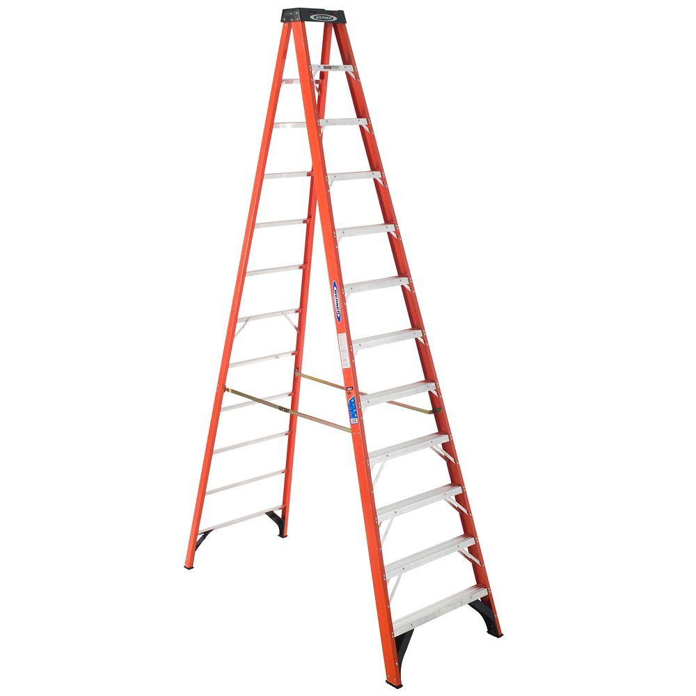 Fiberglass Stepladder Grade 1A (300# Load Capacity) - 12 Feet