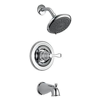 Delta Porter Monitor 14 Series 3 Spray Tub Shower Faucet In Chrome