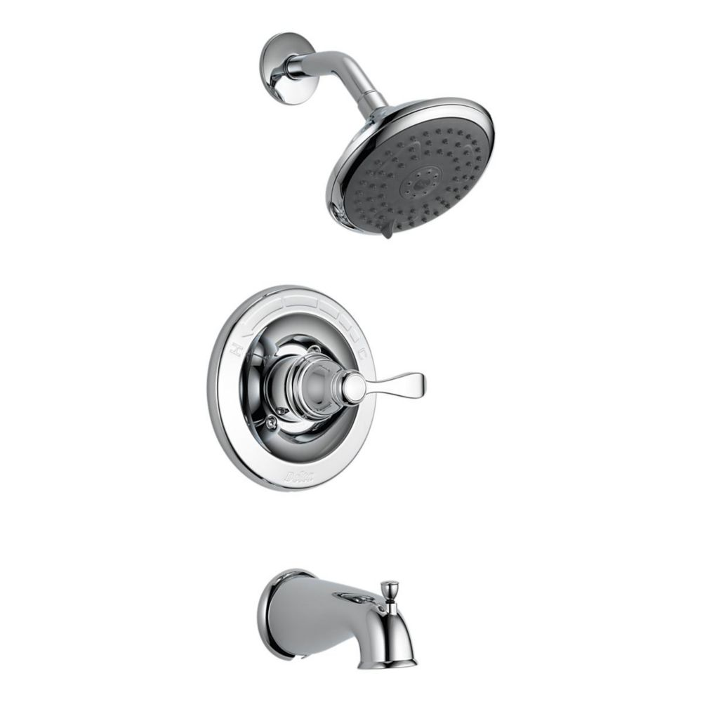 Delta Porter Monitor 14 Series 3-Spray Tub  Shower Faucet in Chrome