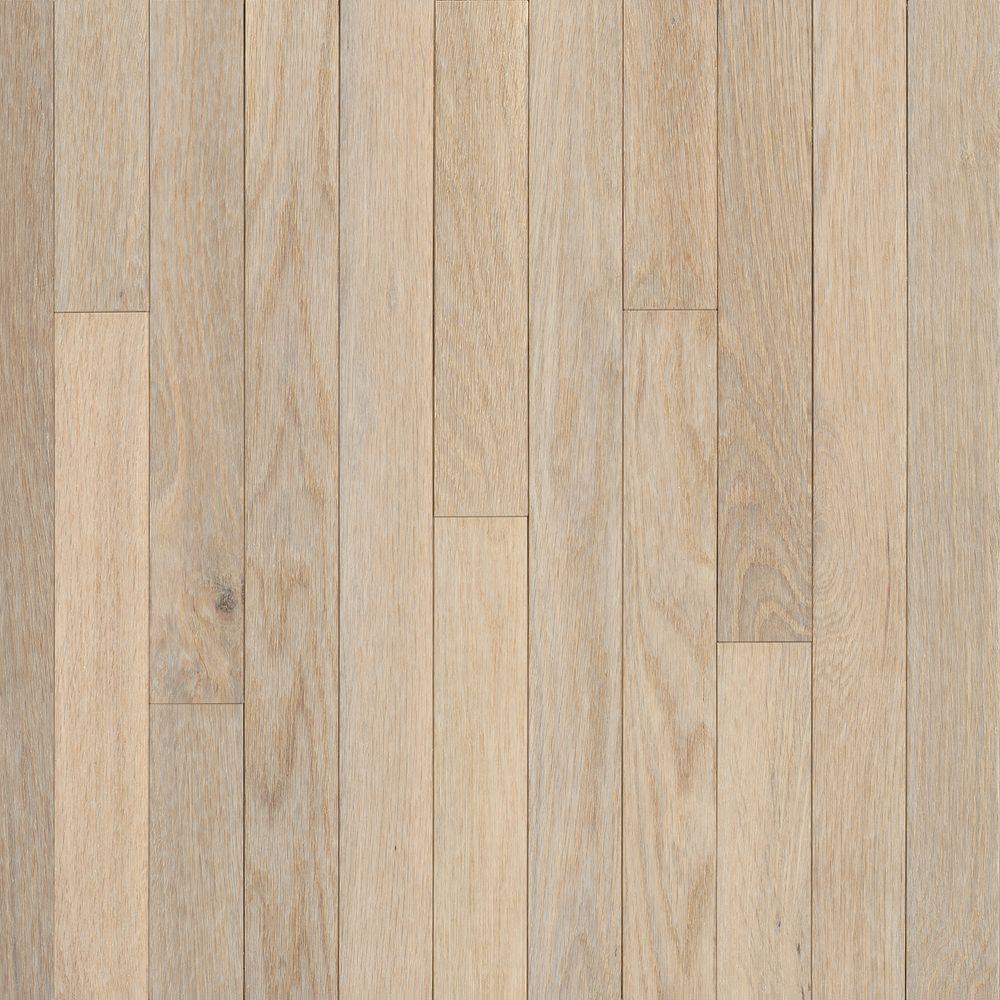2-1/4 Inch  x  3/4 Inch AO Oak Sugar White Solid Wood Floor  - (20 Sq.Ft./Case)