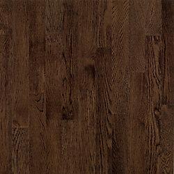 Plancher AO, bois massif, 3/4 po x 3 1/4 po, Chêne Barista brun, 22 pi2/boîte