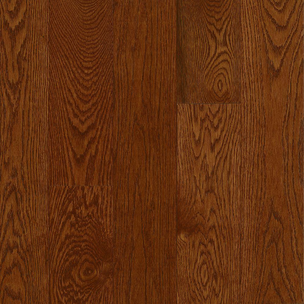 C/S 12,7x 1,9cm Plancher AO en bois massif chêne Deep Russet - (23,5 pi. carré par caisse)