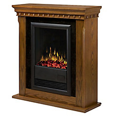 Traditional Compact Fireplace - Warm Oak