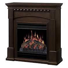 Dalton Knock Down Compact Fireplace - Mocha