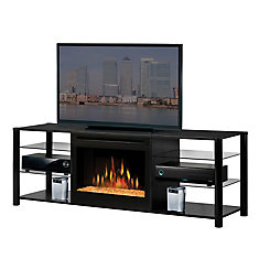 Brantford Media Fireplace - Black